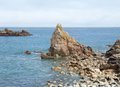 Pink granite coast summer scenery at the in brittany france Stock Photography