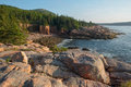 Pink Granite Rocks and cliffs overlooking a quite secluded cove