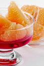 Pink grapefruit dessert Stock Photo