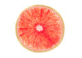 Pink grapefruit slice Royalty Free Stock Photo