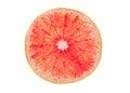 Pink grapefruit slice Royalty Free Stock Photo