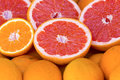 Pink grapefruit some in the supermarket Royalty Free Stock Photography
