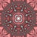 Pink And Gray Kaleidoscope