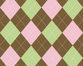 Pink, green and brown argyle Stock Photo