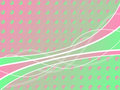 Pink-green circle background with lines Royalty Free Stock Photo