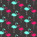 Pink and green flamingo pattern. Wallpaper design. Royalty Free Stock Photo