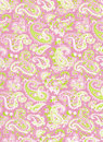 Pink/Green Paisley Background Royalty Free Stock Images