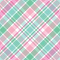 Pink and Green Plaid Royalty Free Stock Photo