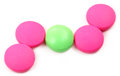 Pink and green tablets Royalty Free Stock Image
