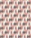 Pink and grey geometric seamless diamond pattern