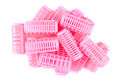 Pink Hair Curlers Stock Photos