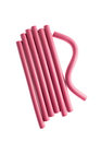 Pink Hair Curlers Royalty Free Stock Photo