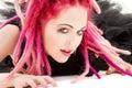 Pink hair girl Royalty Free Stock Photo