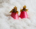 Pink handbells Stock Photography