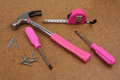 Pink handy tools dream Royalty Free Stock Photo
