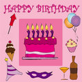 Pink Happy Birthday Royalty Free Stock Image