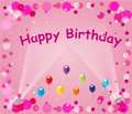 Pink Happy Birthday Balloons Royalty Free Stock Photos