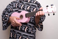 Pink Hawaiian Ukulele Love Song Stock Image
