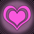 Pink heart Stock Photo