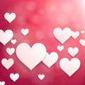 Pink heart background. Stock Photos