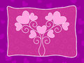 Pink Heart Background With Lov...
