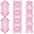 Pink Heart Borders 2 Stock Image