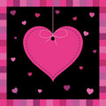 Pink heart greeting card Royalty Free Stock Photo