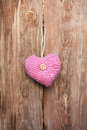 Pink heart for holiday Stock Images