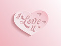 Pink heart with I love you inscription Stock Photography