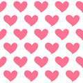 Pink heart isolated seamless pattern on white background. Symbol of love.