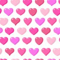 Pink heart love romantic seamless pattern vector
