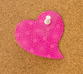 Pink Heart Memo Stock Photography