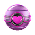 Pink Heart Metal Sphere