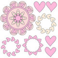 Pink heart ornamtents Royalty Free Stock Photo