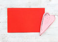 Pink heart and red card old Stock Photo