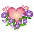 Pink Heart Roses Clip Art Stock Photo