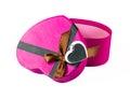 Pink Heart-shaped box Royalty Free Stock Photography