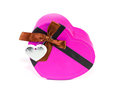 Pink Heart-shaped box Stock Image