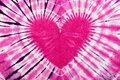 Pink heart sign tie dye pattern background Royalty Free Stock Photo