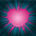 Pink heart starburst Royalty Free Stock Photo
