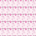 Pink heart vector seamless pattern texture. Stock Images