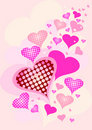 Pink hearts Royalty Free Stock Photos