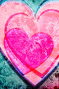 Pink hearts background Stock Images
