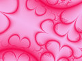 Pink Hearts Background Royalty Free Stock Image