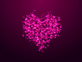 Pink hearts bokeh as background Royalty Free Stock Photo