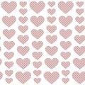 Pink hearts seamless pattern with dots inside for the background Stock Images
