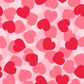 Pink hearts seamless vector pattern Stock Images