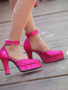 Pink high heeled a pair of Royalty Free Stock Images