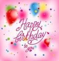 Pink holiday card