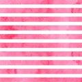 Pink horizontal watercolor stripes. Vector illustration